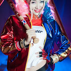 Harley Quinn DC Comics Costume Polyester Jacket ONLY for Halloween Cosplay S-2XL