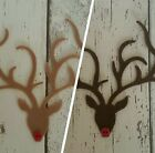 Rudolph the Red Nose Reindeer die cut felt with shiny buttons, Christmas Craft