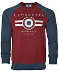 Lambretta Sweatshirt Jumper Crew Neck Warm Winter Lightweight Cotton UK S-4XL