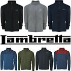 Lambretta Fleece Jacket Mens Full Zip Soft Warm Lined Polar Lightweight UK S-4XL