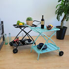 3 Tier Rolling Kitchen Cart Serving Side Table Multi-functional Storage Cart Bar