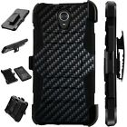 For Alcatel TCL LX A502DL Holster Case Armor Kickstand Phone Cover LuxGuard A1