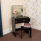Wido WOODEN DRESSING VANITY TABLE WITH MIRROR AND STOOL AND DRAWER MAKEUP