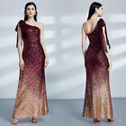 Ever-Pretty Womans Sequins One-Shoulder Floor Length Evening Party Dresses 07336