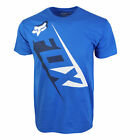 FOX RACING MENS BLUE T SHIRT CROSS LOGO