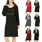 Women's Long Sleeve Sleep Shirt Tee Pajama Top Sleep Dress Sleepwear Night Gown
