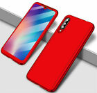 For Xiaomi Mi 9T 9 8 A1 A2 A3 Lite Pocophone F1 Full Cover Case + Tempered Glass