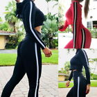 Sport Womens 2-in-1 Tracksuits Casual Stitching Yoga Fitness Tank Top+Pant Sets