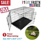 "48""/42""/36""/30""/24"" Pet Kennel Cat Dog Folding Crate Wire Metal Cage W/ Divider*"
