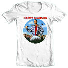 Happy Gilmore T-shirt Free Shipping retro 90's golf movie 100% cotton white  tee image