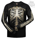 Harley-Davidson Mens Skeleton Bones Rib Cage Black Long Sleeve Biker T-Shirt $19.99 USD on eBay