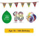 AGE 18 - Happy 18th Birthday Party Balloons, Banners & Decorations epp