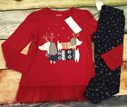 Gymboree 2T 3T 4T 5T North Pole Party Puppy Dog Tulle Top Star Leggings NWT