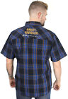 Harley-Davidson Mens 115th Anniversary Plaid Blue Short Sleeve Shirt 99018-18VM $39.99 USD on eBay