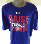 NEW Mens MAJESTIC Chicago Cubs 2016 NL Champs Raise The Flag Baseball T-Shirt on Ebay