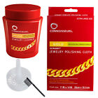 2pc Connoisseurs Gold Jewelry Cleaning Solution + Polishing Cloth Set - Precious