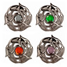 More images of New Fashion Scottish Serpent Plaid Brooch Chrome Finish 6 Stone Colours