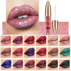 Waterproof Makeup Lip Gloss Metallic Glitter Matte Liquid Lipstick Long Lasting