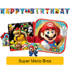 SUPER MARIO - Birthday PARTY RANGE (Tableware, Balloons & Decorations)Amscan(1C)