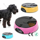 6 Meal Timed Automatic Pet Feeder Dog Cat Food Bowl Dispenser Pink Blue Yellow