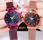 Luxury Women Ladies Starry Sky Watch Magnet Fashion Quartz Stainless Wristwatch image