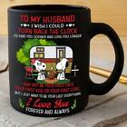 Snoopy Camping To My Husband I Love You Forever Mug Black Ceramic 11oz Tea Cup