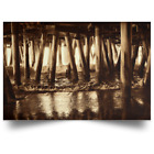 "Satin Poster ""Under the Pier 2"" (Sepia)"