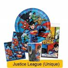 JUSTICE LEAGUE Birthday Party Tableware Supplies Decorations DC Heroes {UQ}(1C)