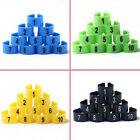 100Pcs Bird Parrot Chicks Plastic 1-100 Numbered Pigeon Leg Bands Rings USA