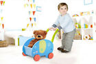Baby First Steps Push Along Walker Activity Toy Mobility Wooden Pull Storage Box
