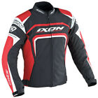 Ixon Eager Jacket Black White Red Waterproof Textile Motorcycle Jacket New