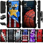 For MOTOROLA ONE XT1941 (2019) Phone Case Kick Stand Holster Cover Luxguard M13