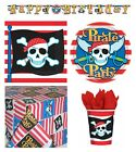 PIRATE PARTY Birthday Range - Tableware Balloons Banners Decorations Supplies