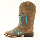 Внешний вид - Twister Blazin Roxx Childrens' & Toddler Gracie Turquoise Glitter Western Boot