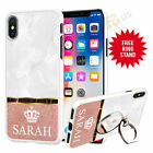 Personalised Marble Phone Case And POP UP Stand Phone Grip Finger Hold 071-6