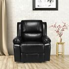 Living Room Instructions Recliner PU Leather Padded Lounge Sofa Reclining 2 Colors US
