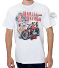 Harley-Davidson Mens Rally Station Pinup Gas Pump White Short Sleeve T-Shirt $9.99 USD on eBay