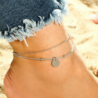 Fashion Lady's Anklet Silver Gold Charm Ankle Chain Bracelet Foot Sandal Jewelry