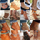 Fashion Lady's Anklet Silver Gold Charm Ankle Chain Bracelet Foot Sandal Jewelry image