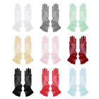 """Lady Long Gloves Tulle Full Finger Stretch Evening Party Opera Bridal Dress 28"""""""
