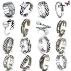 Womens Mens Retro 925 Sterling Sliver Plated Adjustable Open Band Thumb Rings