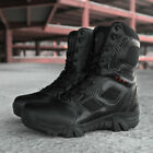 Soldier Mens Combat Waterproof Army Police Tactical Boots Hiking Walking Shoes