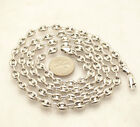 6mm Puffed Gucci Mariner Link Chain Necklace Anti-Tarnish Real Sterling Silver