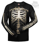 Harley-Davidson Mens Skeleton Bones Rib Cage Black Long Sleeve Biker T-Shirt image