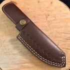 """Leather Knife Sheath Fixed Blade Knife For 8-10"""" Knife Black or Brown Leather"""