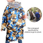 Children's Unisex Poncho Thicken Waterproof Camo Raincoat With School Bag Cover