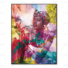 Afro Africa Woman Canvas Painting Wall Art Home Decor Bedroom Decoration