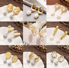 Women Retro Pearl earrings chic style creative Stud Pendant Accessories for Lady