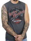 Harley-Davidson Mens Rebel Rumble B&S Charcoal Sleeveless Muscle Shirt $14.99 USD on eBay