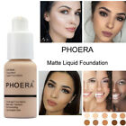 Women 30ml PHOERA Matte Oil Control Concealer Liquid Foundation BeautyPortable